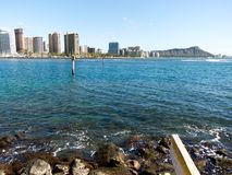 Κεφάλι διαμαντιών από Waikiki Στοκ εικόνα με δικαίωμα ελεύθερης χρήσης