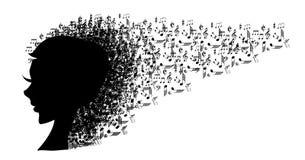 Κεφάλι μουσικής διανυσματική απεικόνιση