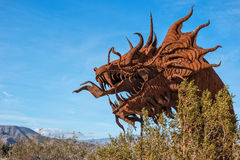 Κεφάλι δράκου στα λιβάδια Galleta Στοκ Εικόνες