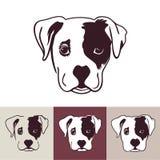 Κεφάλι σκυλιών κουταβιών απεικόνιση αποθεμάτων