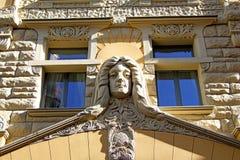 Κεφάλι στον τοίχο Στοκ Φωτογραφίες