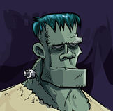 Κεφάλι τεράτων Frankenstein κινούμενων σχεδίων Στοκ Εικόνες