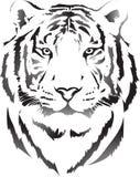 Κεφάλι τιγρών στη μαύρη ερμηνεία 3 Στοκ Φωτογραφίες