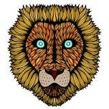 Κεφάλι τιγρών zentangle Στοκ φωτογραφία με δικαίωμα ελεύθερης χρήσης
