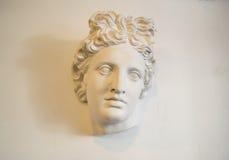 Κεφάλι των λευκών πέτρινων γυναικών αγαλμάτων Στοκ εικόνα με δικαίωμα ελεύθερης χρήσης
