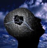 Κεφάλι όπως μια τρύπα Στοκ φωτογραφίες με δικαίωμα ελεύθερης χρήσης