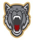 Κεφάλι λύκων logotype Μασκότ ομάδας διανυσματική απεικόνιση