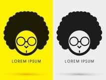 Κεφάλι Afro με τα γυαλιά Στοκ εικόνα με δικαίωμα ελεύθερης χρήσης