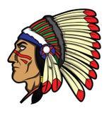 Κεφάλι Apache Στοκ εικόνες με δικαίωμα ελεύθερης χρήσης