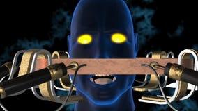 Κεφάλι Cyborg απόθεμα βίντεο