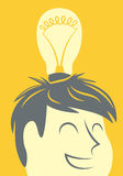 Κεφάλι lightbulb διανυσματική απεικόνιση
