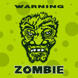 Κεφάλι Zombie μια τυποποιημένη εικόνα Στοκ εικόνα με δικαίωμα ελεύθερης χρήσης