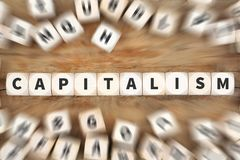 Κεφαλαιοκρατίας πλούσια οικονομία χρημάτων πολιτικής η οικονομική χωρίζει σε τετράγωνα την επιχείρηση γ Στοκ Φωτογραφία