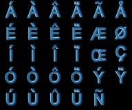 Κεφαλαία γράμματα ακτίνας X με τα διακριτικά Στοκ φωτογραφία με δικαίωμα ελεύθερης χρήσης
