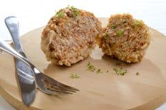 Κεφτές που μαγειρεύεται με το ρύζι Στοκ εικόνες με δικαίωμα ελεύθερης χρήσης