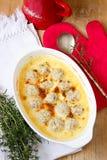 Κεφτή στην πικάντικη σάλτσα κρέμας Στοκ Εικόνες