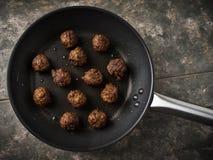 Κεφτή Vegan σε ένα τηγάνι Στοκ φωτογραφίες με δικαίωμα ελεύθερης χρήσης