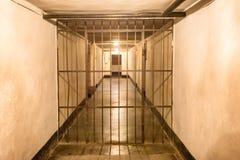 Κελί φυλακής με τα σιδερόβεργα Στοκ Εικόνες