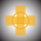 Κελτικός σταυρός σε ένα γκρίζο διάνυσμα υποβάθρου Στοκ Εικόνες