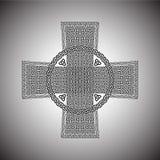 Κελτικός σταυρός σε ένα γκρίζο διάνυσμα υποβάθρου Στοκ εικόνες με δικαίωμα ελεύθερης χρήσης