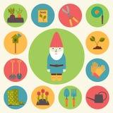 Κηπουρική, διανυσματικά εικονίδια κήπων καθορισμένα ελεύθερη απεικόνιση δικαιώματος