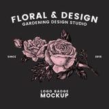 Κηπουρική και floral διάνυσμα σχεδίου λογότυπων ελεύθερη απεικόνιση δικαιώματος