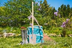 Κηπουρική - σύνολο εργαλείων για τον κηπουρό Στοκ Φωτογραφία