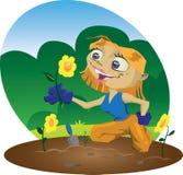 κηπουρός απεικόνιση αποθεμάτων