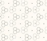 Κηρήθρα ή μοριακό υπόβαθρο, άνευ ραφής hexagons σχέδιο, απεικόνιση Στοκ Φωτογραφία