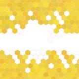Κηρήθρα με το κίτρινο υπόβαθρο μελιού επίσης corel σύρετε το διάνυσμα απεικόνισης Στοκ Εικόνα
