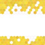 Κηρήθρα με το κίτρινο υπόβαθρο μελιού διάνυσμα Στοκ Εικόνες
