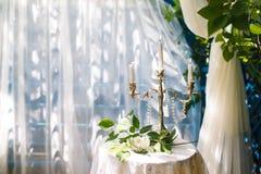 κηροπήγια κεριών Στοκ εικόνες με δικαίωμα ελεύθερης χρήσης