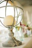 Κηροπήγιο αναγέννησης στη διακοσμητική γαμήλια ρύθμιση Στοκ Φωτογραφίες