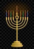 Κηροπήγιο Hanukkah hanukkah Εβραϊκά κεριά διακοπών Εβραϊκό φεστιβάλ του φωτός ελεύθερη απεικόνιση δικαιώματος