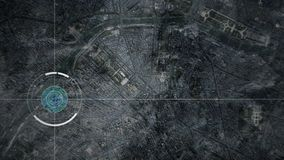 Κηφήνας ή δορυφορική ανίχνευση Παρίσι επιτήρησης καμερών απόθεμα βίντεο