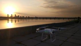 Κηφήνας ενάντια στο ηλιοβασίλεμα στοκ φωτογραφία με δικαίωμα ελεύθερης χρήσης