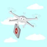 κηφήνας Υπηρεσίες Ασθενοφόρων Οχημάτων Ο ουρανός ελεύθερη απεικόνιση δικαιώματος