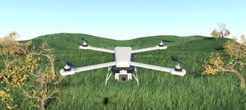 Κηφήνας quadcopter τρισδιάστατη απεικόνιση Στοκ Εικόνες
