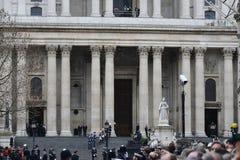 Κηδεία της Θάτσερ βαρονών στοκ εικόνα με δικαίωμα ελεύθερης χρήσης