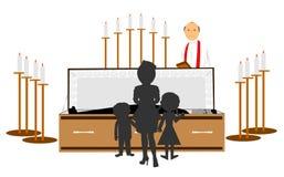 Κηδεία του οικογενειακού μέλους Στοκ εικόνα με δικαίωμα ελεύθερης χρήσης