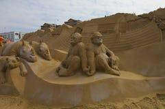 Κιβωτός του Νώε γλυπτών άμμου Στοκ Φωτογραφία