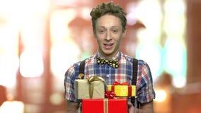 Κιβώτια δώρων εκμετάλλευσης εφήβων απόθεμα βίντεο