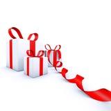 Κιβώτια δώρων Χριστουγέννων διανυσματική απεικόνιση