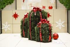 Κιβώτια δώρων stylization διακοσμήσεων Χριστουγέννων στοκ φωτογραφία με δικαίωμα ελεύθερης χρήσης