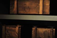 κιβώτια ξύλινα Στοκ φωτογραφίες με δικαίωμα ελεύθερης χρήσης