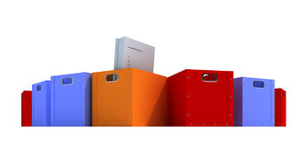 κιβώτια που χρωματίζοντα&io Στοκ εικόνα με δικαίωμα ελεύθερης χρήσης