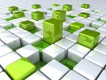 κιβώτια πράσινα Στοκ φωτογραφία με δικαίωμα ελεύθερης χρήσης