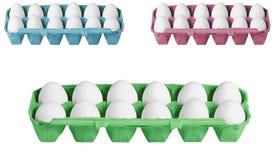 Κιβώτια χαρτοκιβωτίων με τα αυγά Στοκ Εικόνα