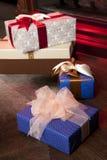 Κιβώτια δώρων για τον εορτασμό Στοκ Εικόνες