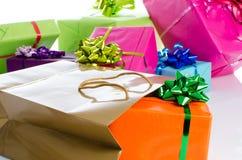 Κιβώτια δώρων και τσάντα δώρων Στοκ Φωτογραφίες